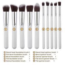 vander pro 10pcs makeup brushes set cosmetic eyeshadow powder foundation blending blush lip beauty tools kit make up pinsel in eye shadow applicator from