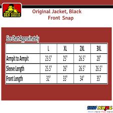 Ben Davis Size Chart