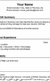 Free Create A Resume