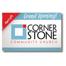 Grand Opening Postcards Grand Opening Logo Postcard Church Postcards Outreach Marketing