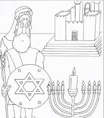 Small Picture Judah the Maccabee Cute and original coloring page for Hanukkah