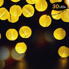 Us 18 19 30 Off 30leds 6m Solar Lantern Ball String Lights Chinese Paper Lantern Wedding Party Decor Gift Diy Lampion Hanging Lantern In Lanterns
