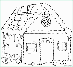 Gingerbread House Coloring Pages Beautiful Printable Gingerbread