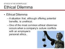 ethical dilemma in workplace essay
