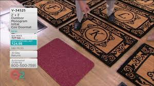 2' x 3' Outdoor Monogram Initial Coir Doormat on QVC - YouTube