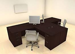 office desk for two. Two Persons Modern Executive Office Workstation Desk Set, #CH-AMB-S2 For