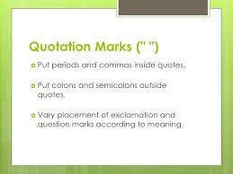 Does The Period Go Inside The Quotes Fascinating Punctuation Tips