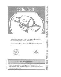 Char Broil Lighting Instructions Char Broil 4639071 User Manual Gas Grill Manuals And Guides