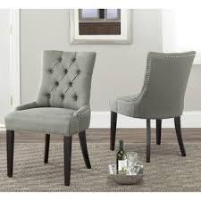 spectacular idea tufted nailhead dining chair 4 dining room