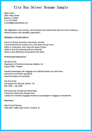 School Bus Driver Resume Examples Resume Sample For Bus Driver Danayaus 7