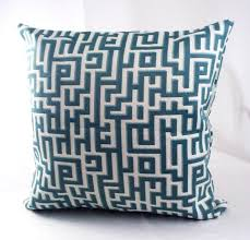 teal blue pillow cushion covers