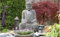 bouddha statue jardin awesome statue bouddha exterieur pour jardin attr les yeux genie in