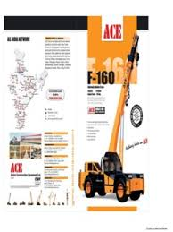 Pick Carry Cranes Action Construction Equipment Ace