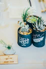 DIY succulent wedding favors that add to the rustic wedding theme // Nigel  and Weiqi's