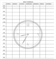 Daily Time Schedule Template 23 Printable Daily Schedule Templates Pdf Excel Word
