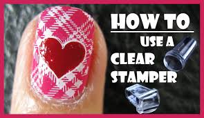 HOW TO USE A CLEAR STAMPER FOR STAMPING NAIL ART DESIGNS PINK ...