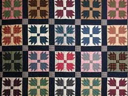 Bears Paw Quilt -- gorgeous ably made Amish Quilts from Lancaster ... & ... Plaid Bears Paw Quilt Photo 3 ... Adamdwight.com
