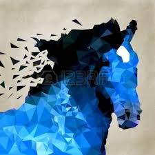 """Résultat de recherche d'images pour """"dessin de cheval bleu"""""""