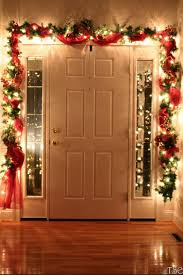 how to hang garland around front doorDont forget to decorate the inside of your front door Many