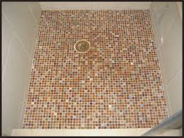 hand made shower floor glass mosaic tile squares