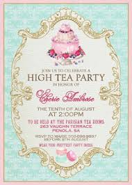 Kitchen Tea Party Invitation Formal Tea Invitation Einmaleinshauscom