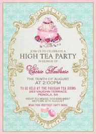 Kitchen Tea Party Invitation Formal Tea Invitation Einmaleinshauscom