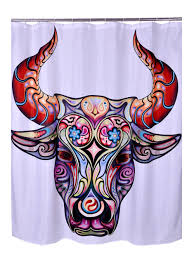 Bathroom Products Polyester Fabric Printed Cow Horse Camel