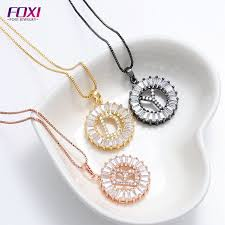 china foxi jewelry supply whole gold plated initial pendant china initial pendant jewelry supply