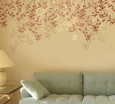 perfect wall stencil ideas the wall art decorations inspiration of flower wall stencils
