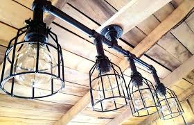 underwriters laboratories chandelier chandeliers a custom made rustic industrial black pipe with cages inc brass