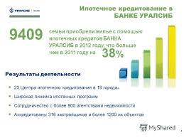 Презентация на тему Почему клиенты выбирают ипотечные кредиты  4 4 Результаты деятельности