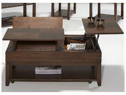 Marvelous Coffee Tables, Enchanting Brown Rectangle Industrial Metal And Laminated  Wood Lift Top Coffee Tables With