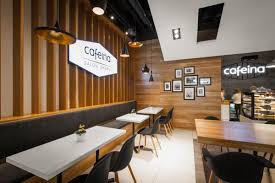 Cafeina Cafe Interior Design Wood Accents