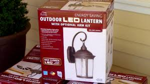 how to install outdoor light fixture costco s outdoor led porch lantern altair 917884 you