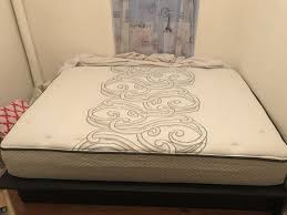Full size Sleepys mattress with frame (Furniture) in New York, NY