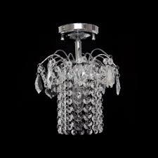 paris flea market inspired and striking crystal rainfall and chrome finish composed semi flush ceiling light