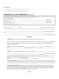 Commercial Tenancy Agreement Template Effective Commercial Lease Agreement Template Xymetri 24
