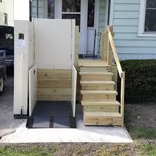 Porch Lifts Vertical Lifts  VPLs Centerspan Medical - Exterior wheelchair lifts