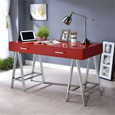 chrome office desk. ACME Coleen Home Office Desk In Red And Chrome