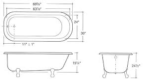 standard clawfoot tub dimensions bathtub size full of a fabulous quality 4