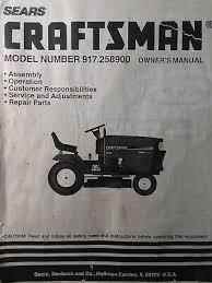 sears craftsman 22 5 6sp garden tractor