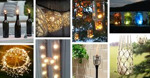 Outdoor lighting ideas diy Garden 25 Diy Outdoor Lighting Ideas That Are Exciting And Easy To Make Homebnc 25 Best Diy Outdoor Lighting Ideas And Designs For 2019