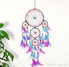 ful polycyclic dreamcatcher with feathers wall hanging decoration car pendant home decor ornament wind chimes gift from qwonly 5 91 dhgate com
