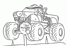 Small Picture Monster Truck Cool Taz coloring page for kids transportation
