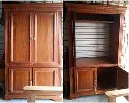 tv armoire cabinet. Delighful Cabinet So After Thinking About What To Do I Got My Hubby Build A New Back And  Then Shelving System For Additional Storage Painted The Outside With  To Tv Armoire Cabinet I