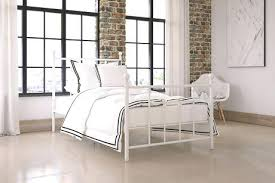 White Iron Bed Frame Manila White Metal Bed White Wrought Iron Bed ...