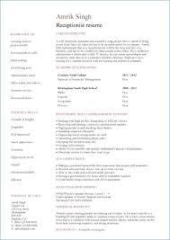 Secretary Resume Examples Luxury Sample Receptionist Resume