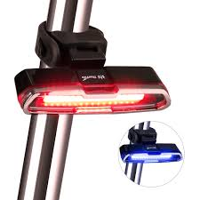 thorfire bike light 5 modes usb rechargeable for any road bikes helmets