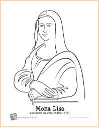 Small Picture Mona Lisa da Vinci Free Printable Coloring Page
