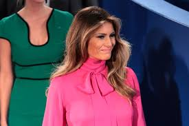 Melania Trump Wore a Pussy Bow Blouse at Sunday s Debate.